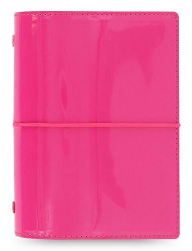 Diář Filofax Domino patent A7 růžový