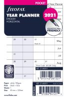 Filofax plánovací kalendář A7 2021 horizontální anglický