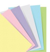 Filofax papír tečkovaný pastelový A7