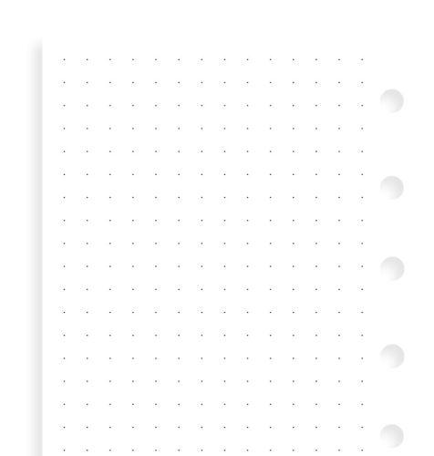 Filofax papír tečkovaný bílý A7