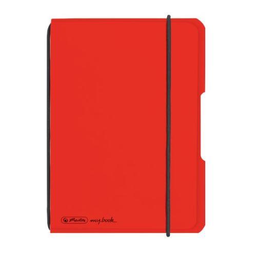 Herlitz sešit flex A6 40 listů čtverečkovaný PP červený