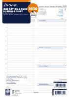 Filofax kalendář A4 2020 den na jednu stranu business 5 jazyků