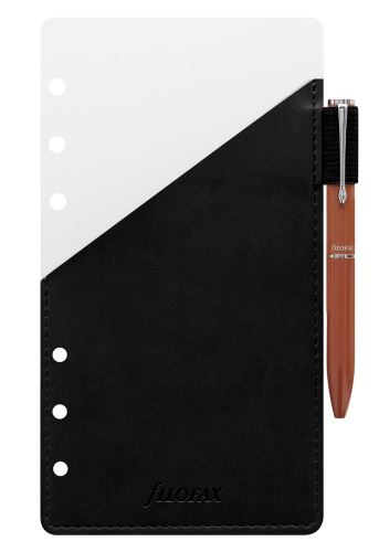Filofax přídavné poutko na pero + černé pero