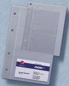 Náplň do diáře ADK A6 obal na vizitky formulář