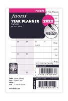 Filofax Kalendář A7 2022 plánovací kalendář horizontální anglický