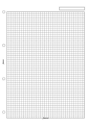 Filofax papír čtverečkovaný bílý A4