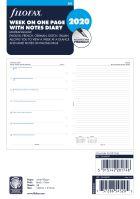 Filofax kalendář A5 2020 týden na jednu stranu 5 jazyků poznámky