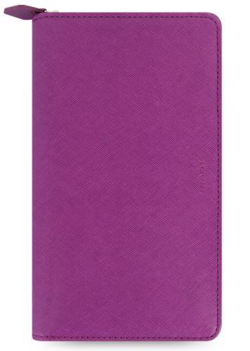 Diář Filofax Saffiano Compact Zip malinový