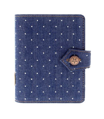 Filofax Denim Dots A7 Pocket denim diář kapesní organizér