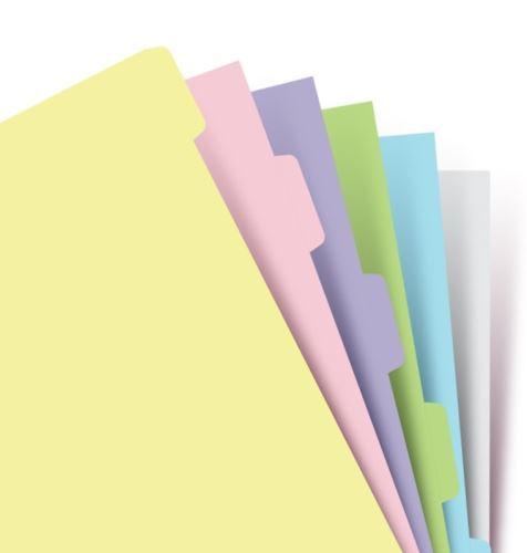 Filofax krajové výřezy pastelové A6