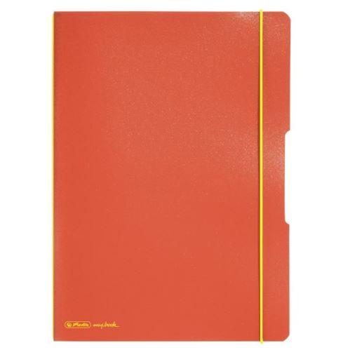Herlitz sešit flex A4/2x40 listů čtverečkovaný + linkovaný oranžový