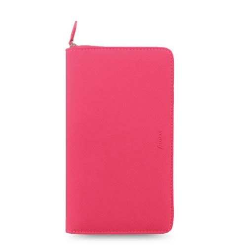 Diář Filofax Saffiano Compact Zip růžový
