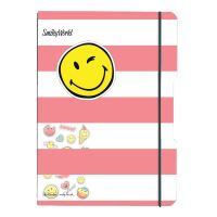 Herlitz sešit flex A4 2x40 listů čtverečkovaný + linkovaný PP pink smiley + samolepky