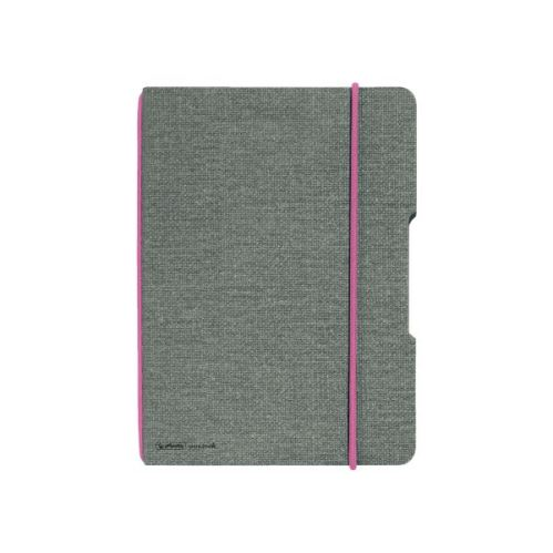 Herlitz sešit flex A5 40 listů čtverečkovaný plátno růžová gumička