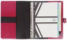 Filofax The Original A5 fuchsiový diář kožený