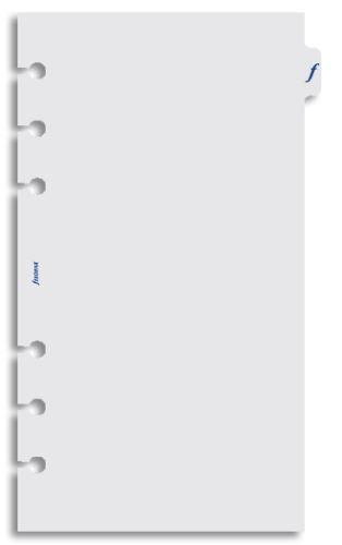 Filofax náplň do diáře formát A6 průhlední list flyleaf