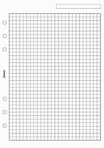 Filofax náplň do diáře formát A5 papír čtverečkovaný bílý