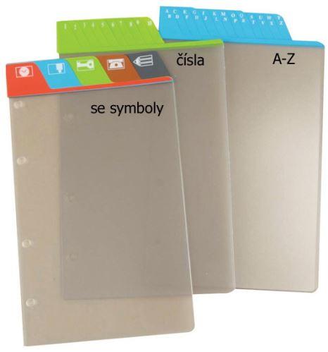 Náplň do diáře ADK A4 dělící listy se symboly formulář