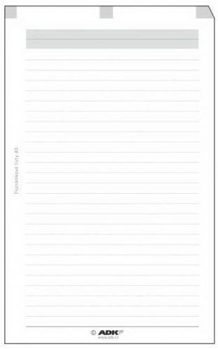 Náplň do diáře ADK A6 poznámkové listy formulář