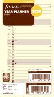 Filofax plánovací kalendář A6 2020 vertikální anglický krémový