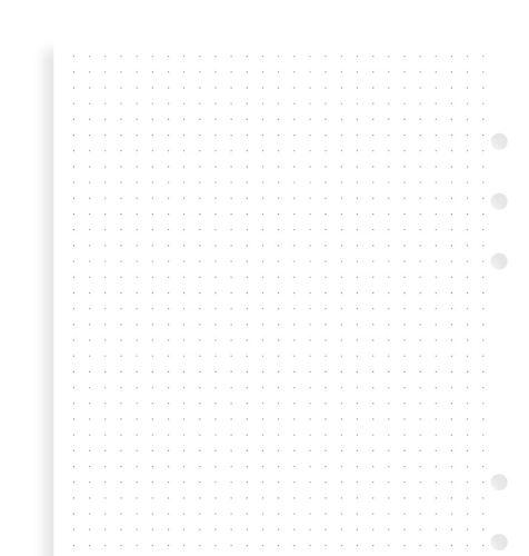 Filofax papír tečkovaný bílý A5