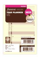 Filofax A7 2022 plánovací kalendář verikální krémový anglický