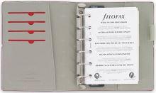 Filofax Domino A7 Pocket červený diář kapesní