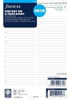 Filofax kalendář A5 2018 den na jednu stranu 5 jazyků