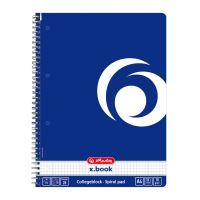 Herlitz x.book blok College kroužkový A4 čtverečkovaný modrý
