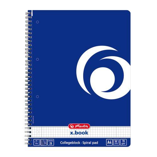 Herlitz blok College kroužkový A4 čtverečkovaný modrý