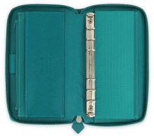 Diář Filofax Saffiano Compact Zip akvamarínový organizér