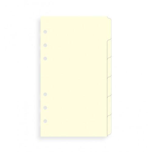 Filofax krajové výřezy krémové A6