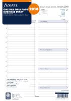 Filofax kalendář A4 2018 den na jednu stranu business 5 jazyků