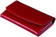 ADK FIESTA červená kožená peněženka