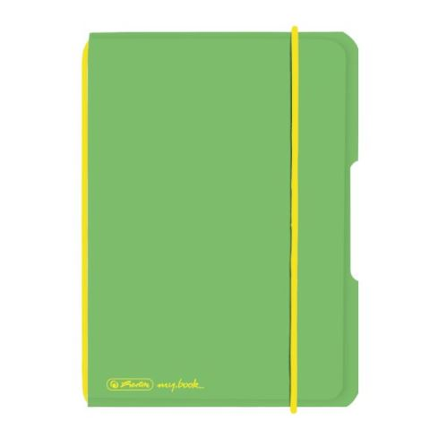 Herlitz sešit flex A6/40 listů čtverečkovaný PP zelený