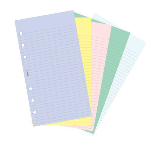 Filofax náplň do diáře formát A6 linkovaný anelinkovaný papír
