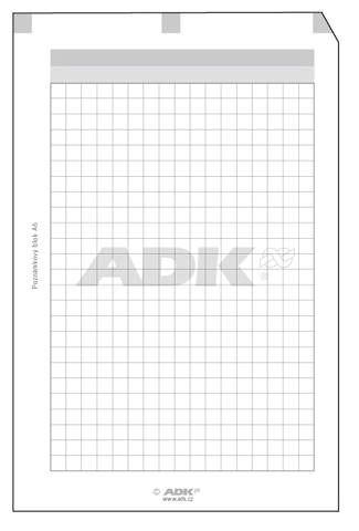 Náplň do diáře ADK formát A6