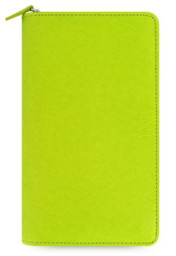Diář Filofax Saffiano Compact Zip limetkový
