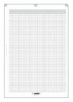 Náplň do diáře ADK A4 čtverečkovaný papír formulář