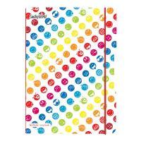 Herlitz sešit flex A4 2x40 listů čtverečkovaný + linkovaný PP rainbow smiley
