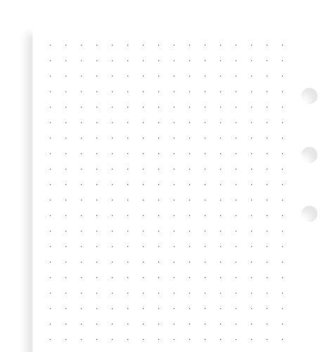 Filofax papír tečkovaný bílý A6