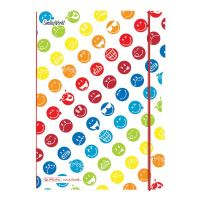 Herlitz sešit flex A5 40 listů čtverečkovaný Rainbow Smiley