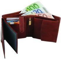 Kožená peněženka ADK MALMO hnědá