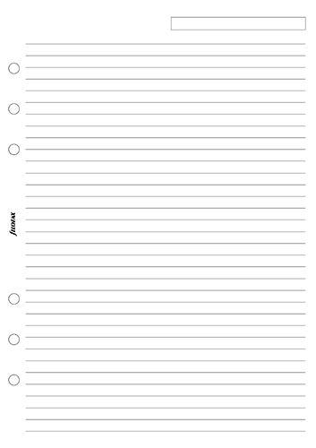 Filofax papír linkovaný bílý A5