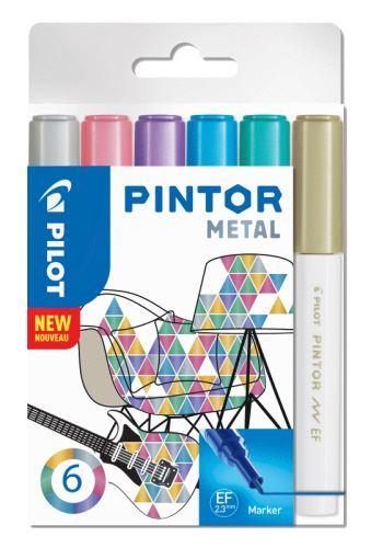 Pilot Pintor Extra Fine Metal 6ks