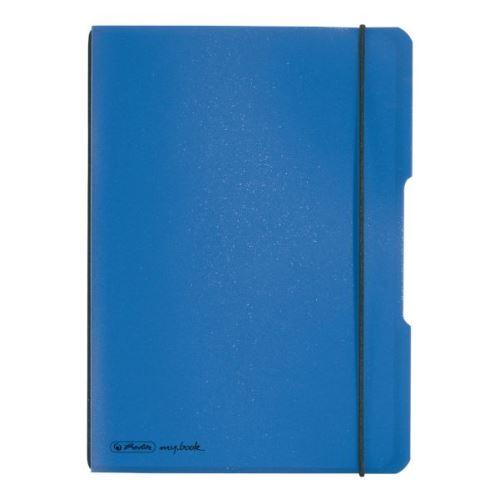 Herlitz sešit flex A5/40 listů čtverečkovaný modrý
