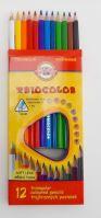 Koh-I-Noor pastelky trojhranné tenké 12ks
