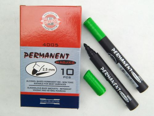 Koh-I-Noor značkovač permanentní zelený kulatý