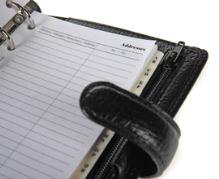 Filofax Finsbury A7 Pocket černý diář kapesní