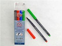 Koh-I-Noor popisovač permanentní set 4 barev 4202 kulatý